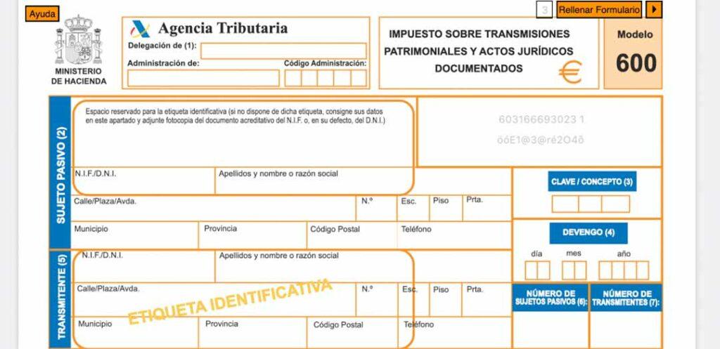 Qué es y cómo rellenar el modelo 600 de Hacienda en Madrid